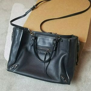 Balenciaga Papier A6 Mini Crossbody Black Leather